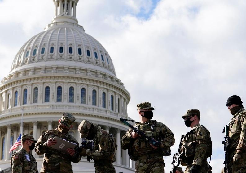Lực lượng vệ binh quốc gia túc trực tại Washington trước lê nhậm chức ngày 20/1