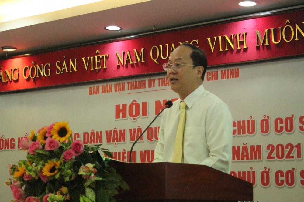Phó bí thư Thành ủy TPHCM Nguyễn Hồ Hải phát biểu chỉ đạo tại hội nghị