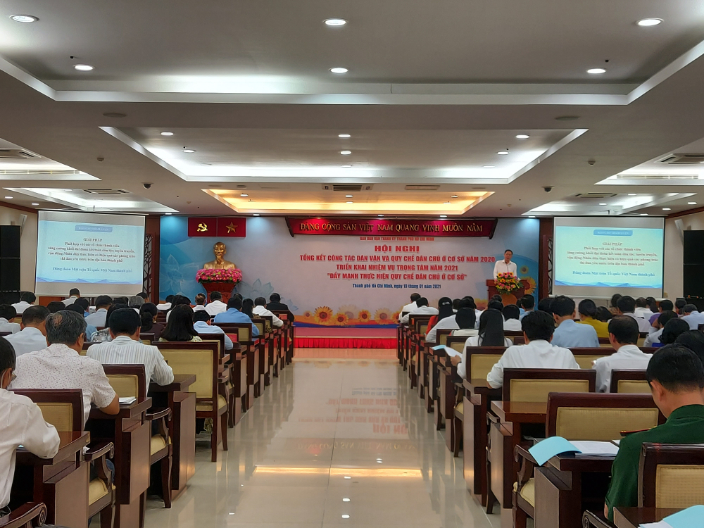 Hội nghị tổng kết Công tác dân vận và thực hiện Quy chế Dân chủ ở cơ sở năm 2020, triển khai phương hướng nhiệm vụ năm 2021.