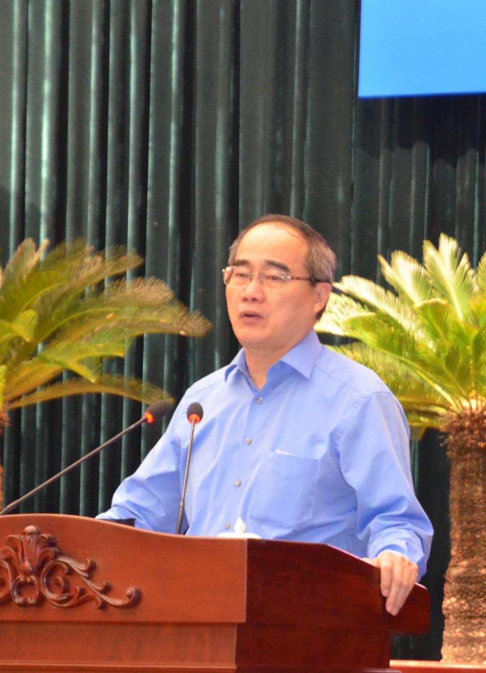 Ông Nguyễn Thiện Nhân báo cáo chuyên đề về triển vọng khu đô thị sáng tạo tương tác cao TP. Thủ Đức.