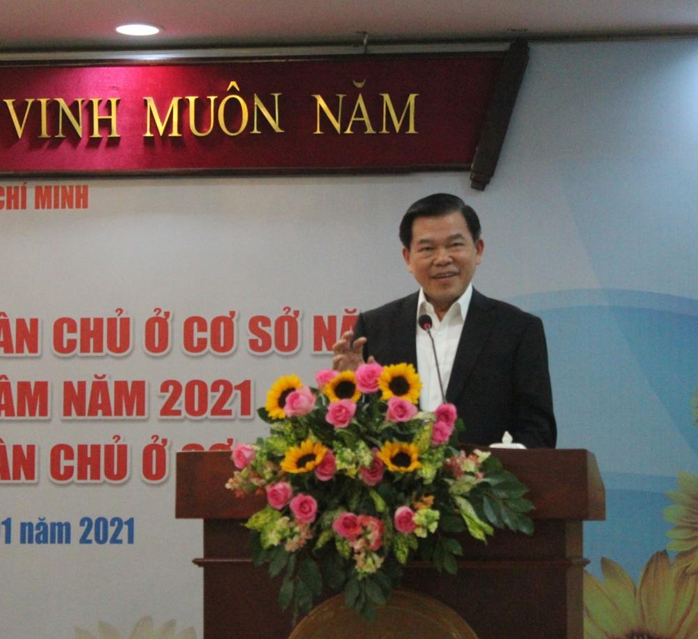 Phó trưởng Ban Dân vận Trung ương Nguyễn Hồng Lĩnh nhấn mạnh vai trò của dân vận chính quyền.