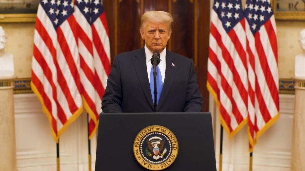 Trump có bài phát biểu dài 19 phút chia tay quốc dân, nhấn mạnh đến những di sản đã đạt được trong 4 năm của nhiệm kỳ Tổng thống đầy sóng gió - Ảnh: NYPost