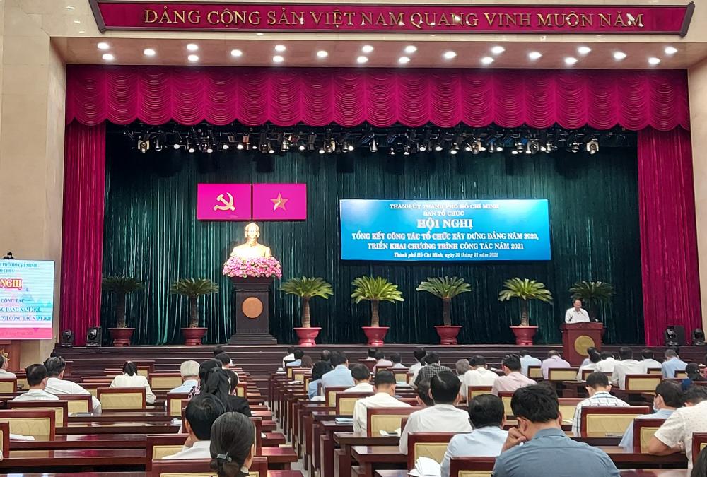 Ban Tổ chức Thành ủy TPHCM tổng kết công tác xây dựng Đảng năm 2020, triển khai phương hướng, nhiệm vụ năm 2021.