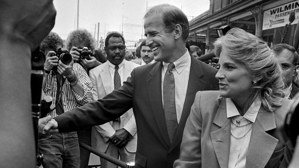 Joe Biden trong lần vận động tranh cử năm 1987
