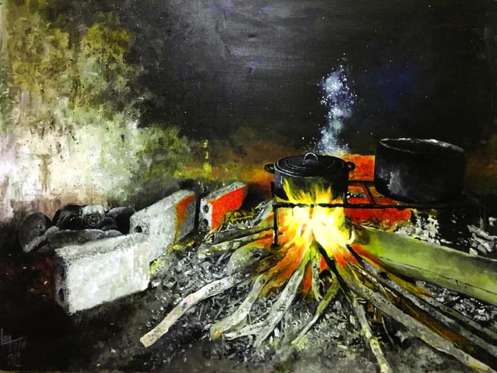 Tác phẩm Bếp lửa ấm áp của Trần Nam Long