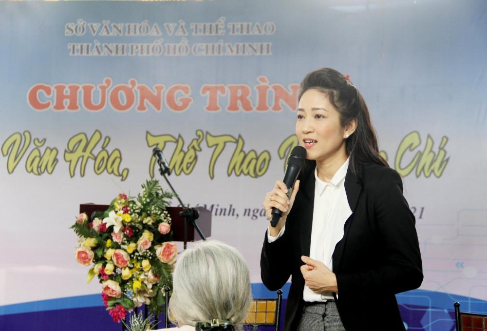 Bà Nguyễn Thị Thanh Thuý - Phó Giám đốc Sở VH-TT TPHCM cho biết cơ quan quản lý cần sự góp ý, tư vấn từ mọi người để các hoạt động được tốt hơn