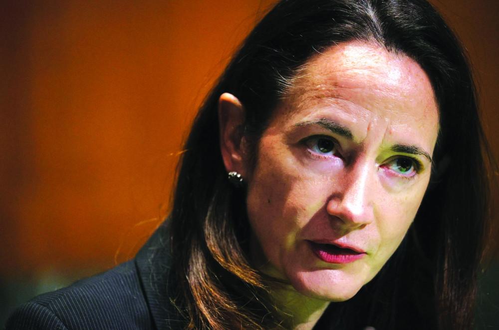 Avril Haines phát biểu trong phiên điều trần trước Ủy ban Tình báo  Thượng viện để trở thành Giám đốc Tình báo quốc gia trong nội các của  Tổng thống Joe Biden tại Washington, Mỹ ngày 19/1 - Ảnh: Reuters