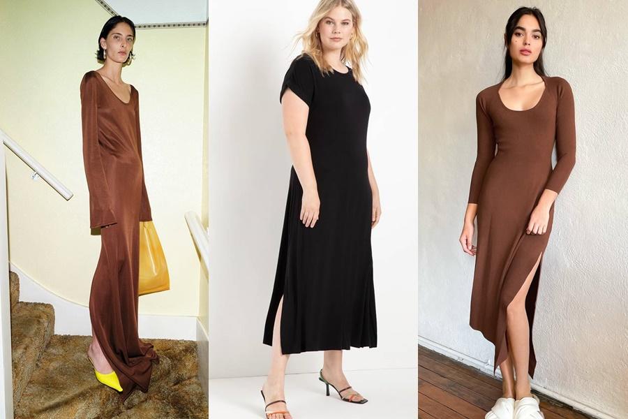 4. Váy trơn, dáng suông: