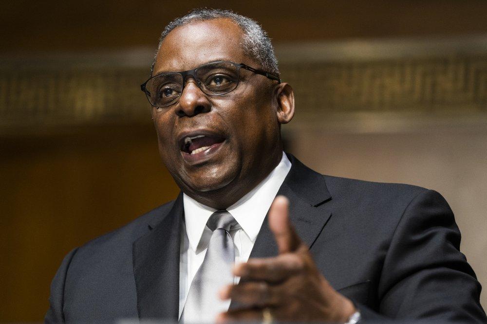 Tân Bộ trưởng Quốc phòng Mỹ Lloyd Austin phát biểu trong phiên điều trần hôm 19/1 - Ảnh: Jim Lo Scalzo/Pool via AP