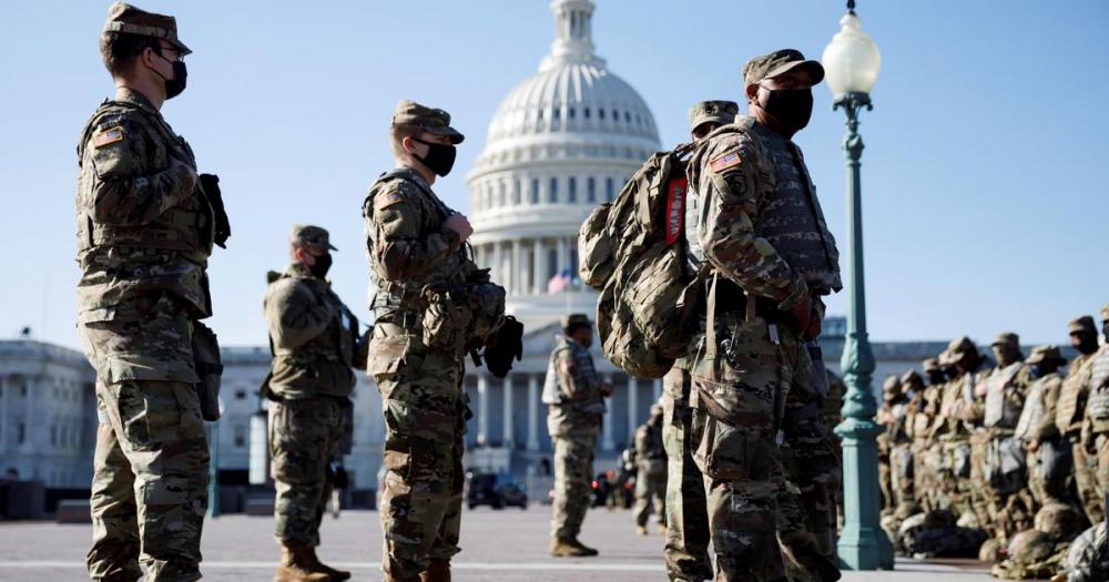 Hàng nghìn lính Vệ binh Quốc gia sẽ lưu lại thủ đô đến giữa tháng Ba - Ảnh: CBS News/News AKMI
