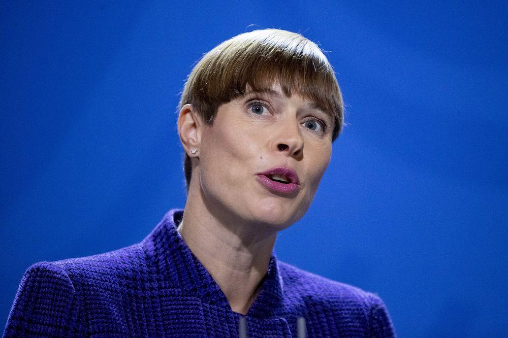 Tổng thống Kersti Kaljulaid - Ảnh: Christoph Soeder/Getty Images