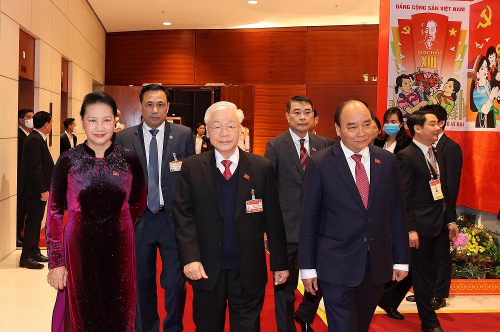 Tổng Bí thư, Chủ tịch nước Nguyễn Phú Trọng cùng các lãnh đạo Đảng, Nhà nước đến dự phiên họp trù bị Đại hội XIII của Đảng.