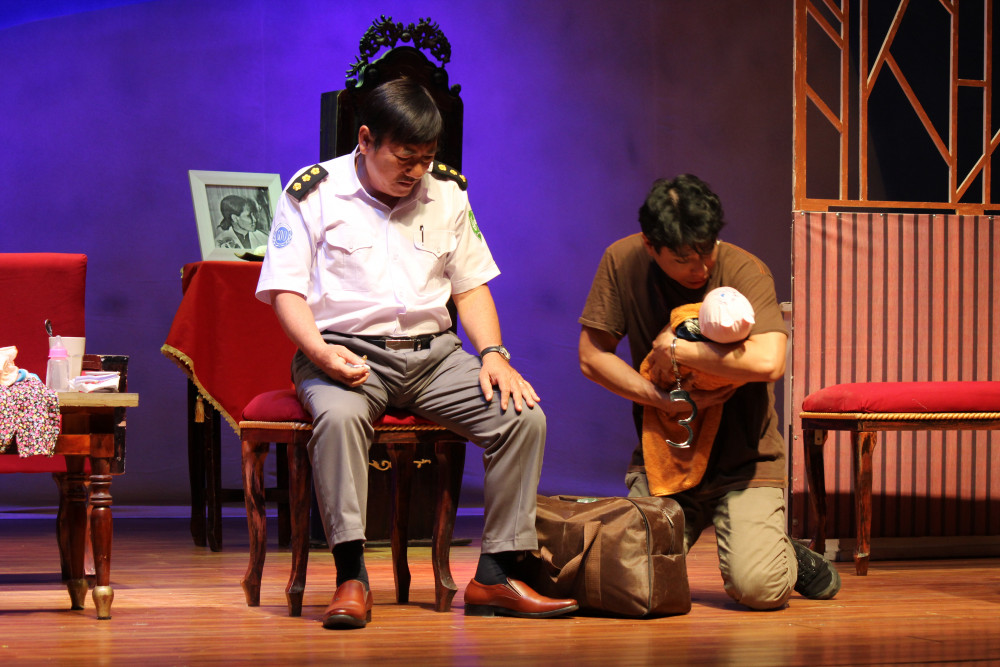 Một trong những lớp diễn đầy cảm xúc của Bạch hải Đường và diễn viên Trí Quang
