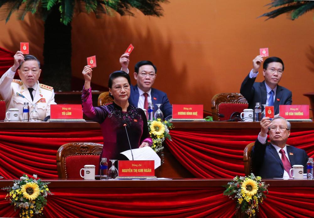 Bà Nguyễn Thị Kim Ngân - Chủ tịch Quốc hội phát biểu tại Đại hội