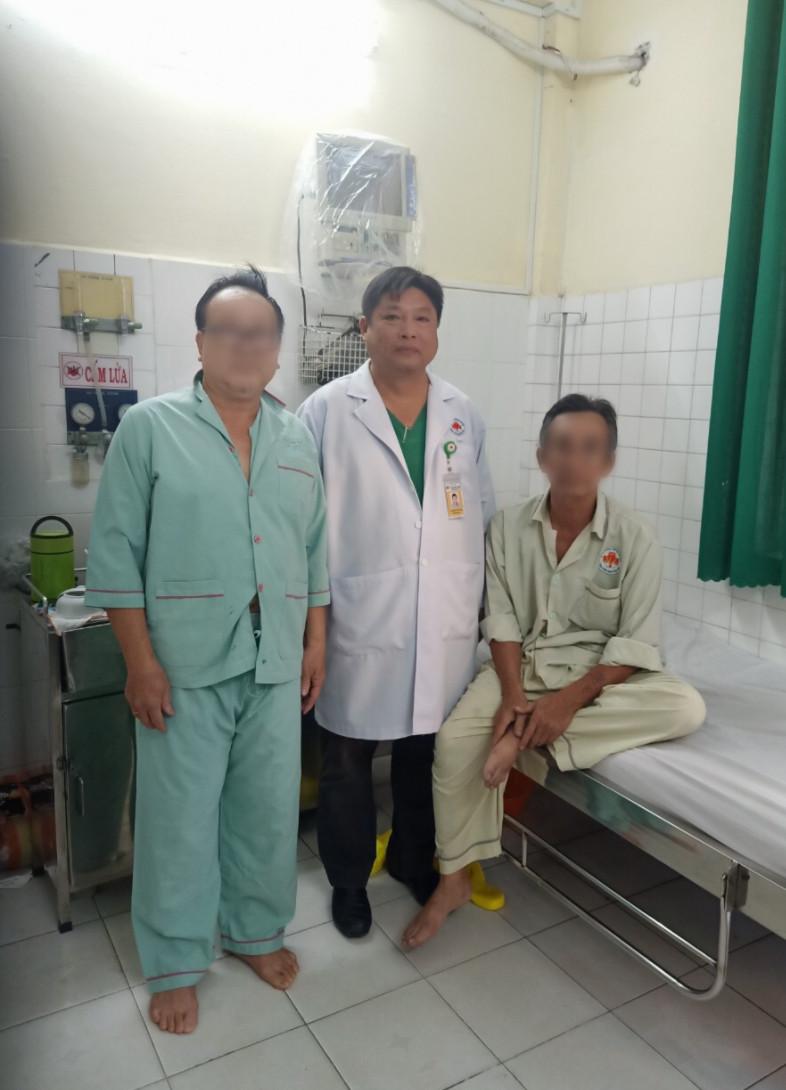 Hiện tại cả hai bệnh nhân đã hồi phục, được xuất viện về nhà, ảnh BVCC