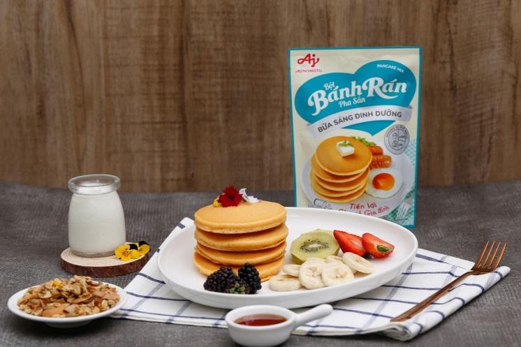 Bữa sáng tiện lợi, chuẩn dinh dưỡng với Bột bánh rán pha sẵn - Bữa sáng dinh dưỡng