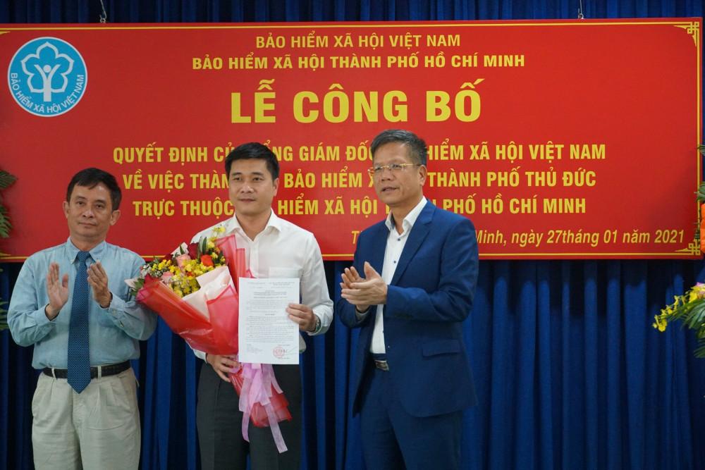 Ông Trần Dũng Hà - Phó Giám đốc Bảo hiểm xã hội TPHCM giữ chức vụ Giám đốc Bảo hiểm xã hội Thành phố Thủ Đức