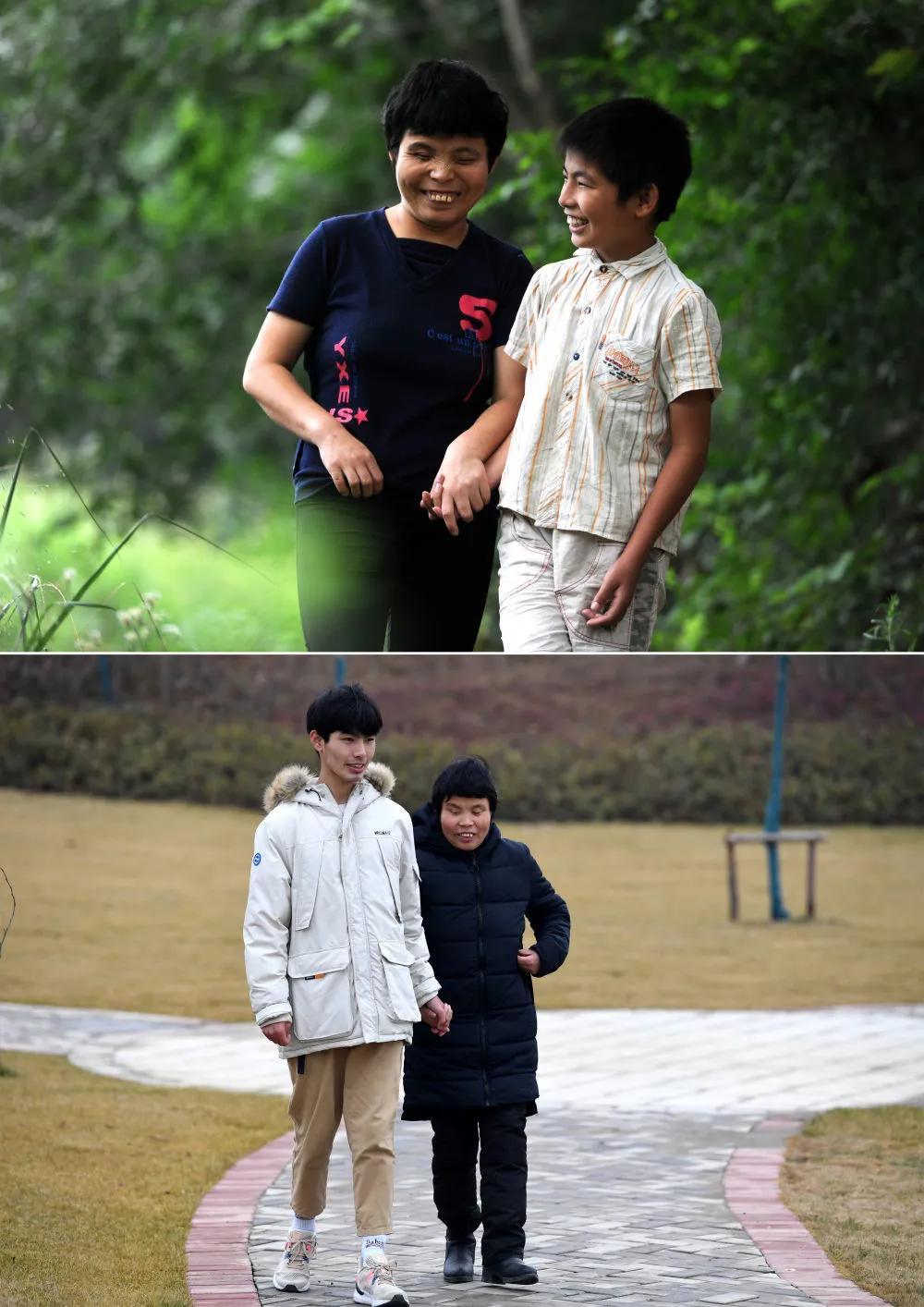 Luôn nắm chặt tay mẹ từ nhỏ cho đến lúc trưởng thành. ảnh Sohu
