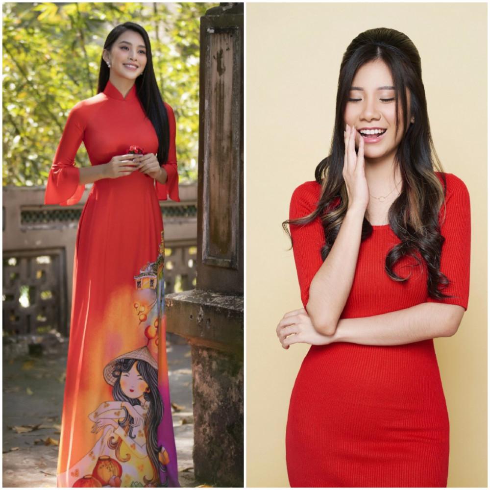 Sắc đỏ giúp phái đẹp thêm phần quyến rũ và nữ tính trong dịp Tết Nguyên đán 2021.