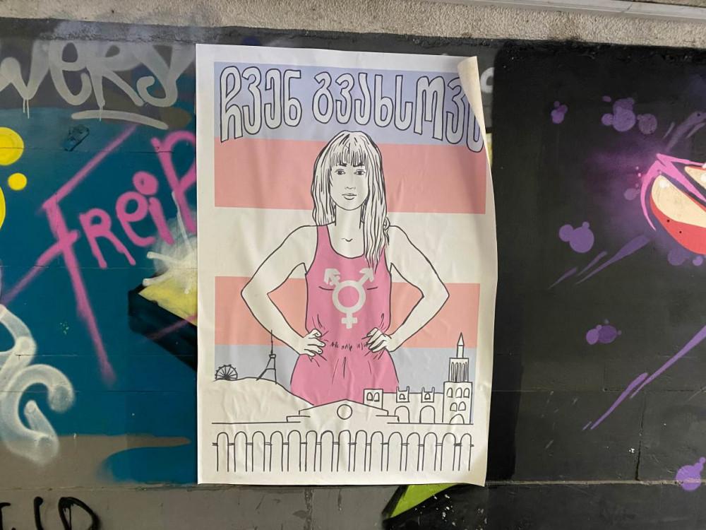Poster về đề tài bình đẳng giới trên một con đường ngầm ở Tbilisi, Georgia. Tại quốc gia nông nghiệp, những sự kiện của cộng đồng LGBT hiếm khi được công khai tổ chức do sức ép từ tư tưởng tôn giáo bảo thủ. (Ảnh: Reuters)