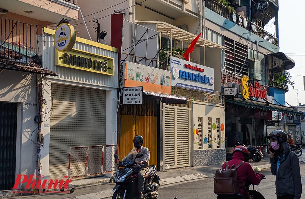 Quán cà phê Sabroso số 211 Bùi Viện, phường Phạm Ngũ Lão, quận 1 đã đóng cửa