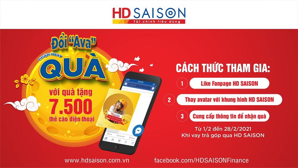 Nhận quà tặng lên đến 100.000 đồng khi đổi ảnh đại diện Facebook với khung hình của HD SAISON
