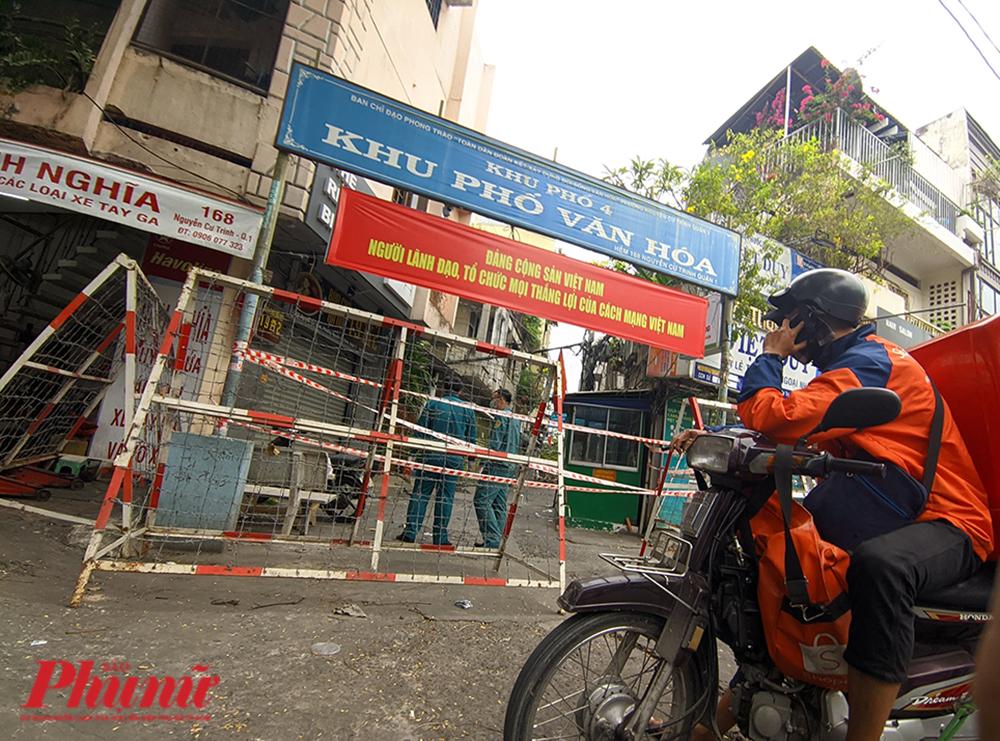Phong tỏa tại đường Nguyễn Cư Trinh, quận 1, TPHCM