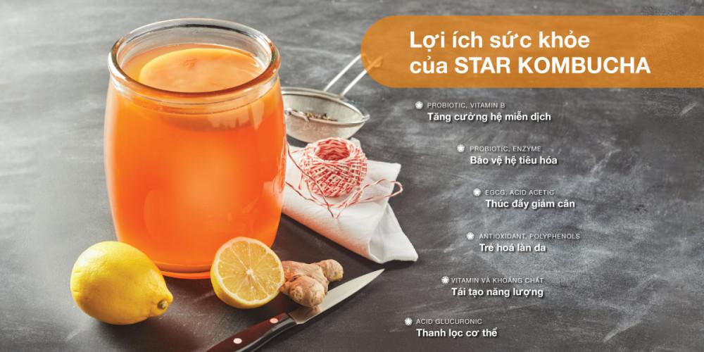 Star Kombucha với 6 lợi ích sức khỏe đặc trưng, phù hợp sử dụng hàng ngày