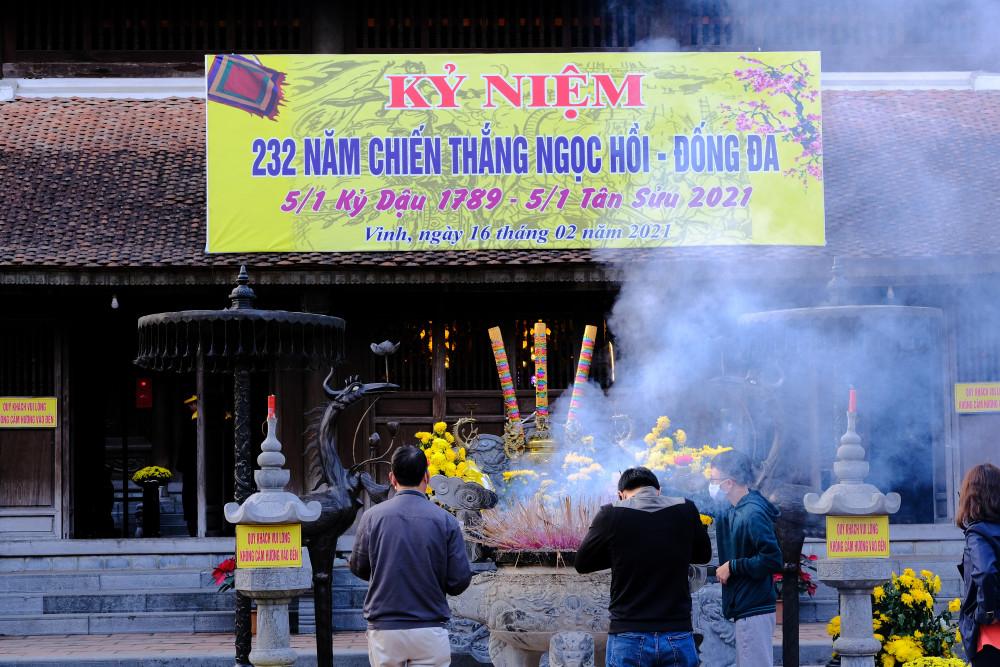 Đền thờ Quang Trung đã trở thành địa điểm văn hoá tâm linh của người dân khu vực