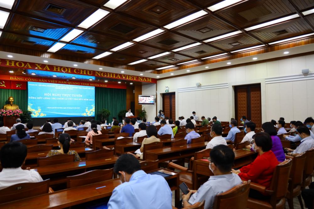 Hội nghị trực tuyến Tổng kết công tác chăm lo Tết Tân Sửu năm 2021