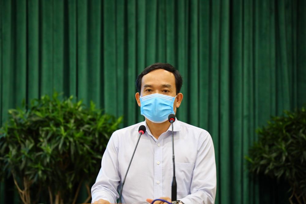 Phó Bí thư Thường trực Thành ủy TPHCM Trần Lưu Quang phát biểu chỉ đạo tại Hội nghị.