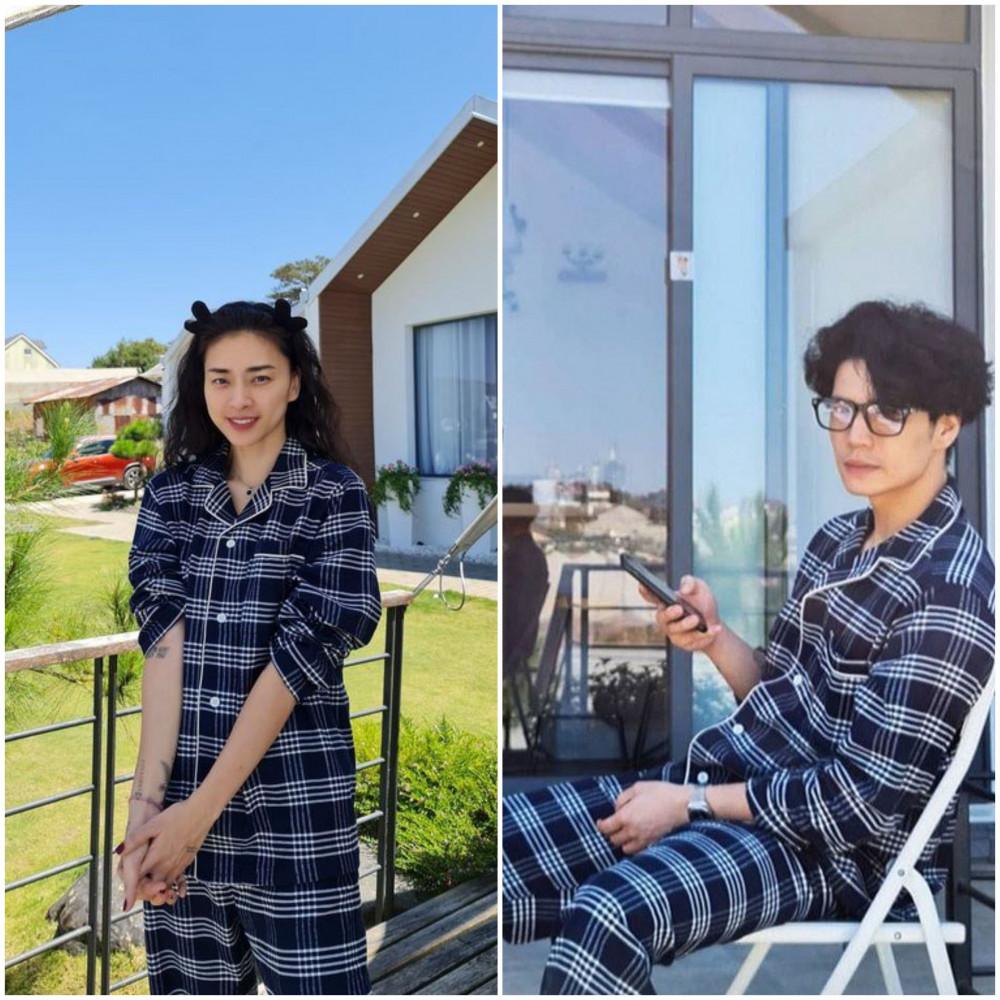Không chỉ tương đồng về gu thời trang mạnh mẽ với những bộ vest cách điệu cá tính, Ngô Thanh Vân và Huy Trần còn diện đồ đôi ton-sur-ton dễ thương, nhận được nhiều lời khen của người hâm mộ.