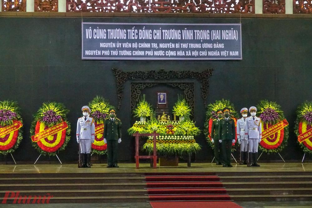 Lễ viếng nguyên Phó Thủ tướng Trương Vĩnh Trọng tại Hà Nội.