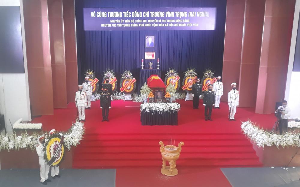 Tang ễ nguyên Phó thủ tướng Trương Vĩnh Trọng được tổ chức theo nghi thức cấp Nhà nước