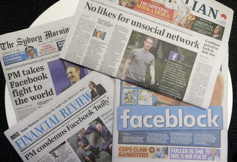 Nhiều tở báo lên án hành động của Facebook đối với Úc