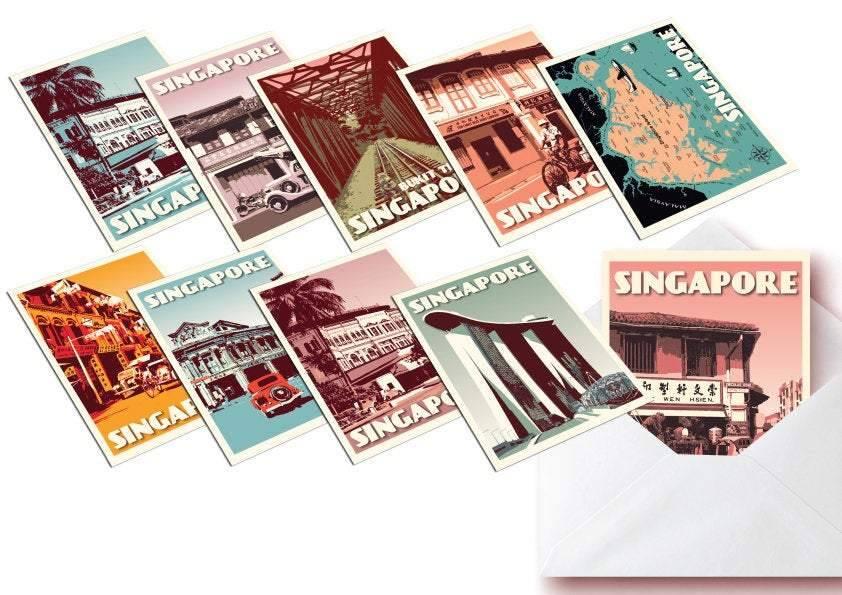 Các bức tranh Singapore của nữ họa sĩ