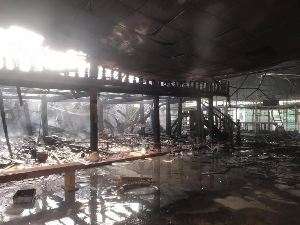 Cơ sở kinh doanh đồ gỗ bị cháy gần như hoàn toàn, thiệt hại lớn