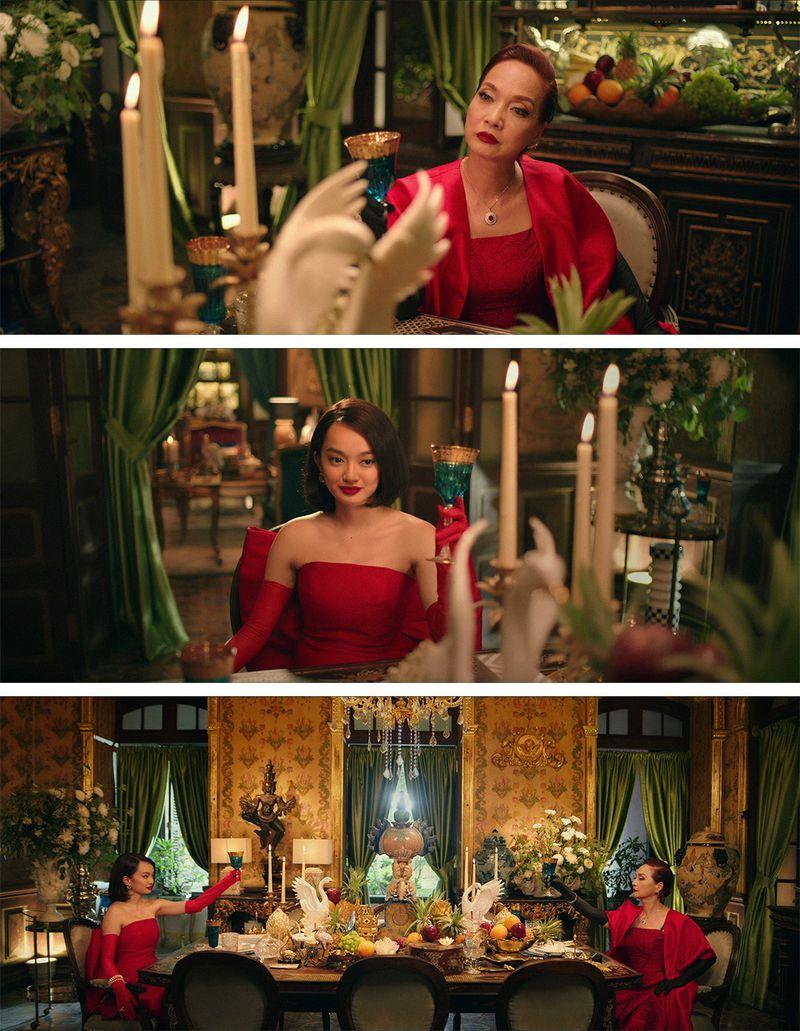 Một số phân cảnh của NSND Lê Khanh và Kaity Nguyễn trên phim Gái già lắm chiêu V: Những cuộc đời vương giả.