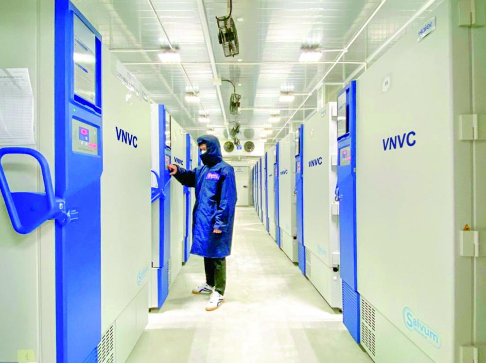 Khu bảo quản âm của VNVC. Ảnh: VNVC