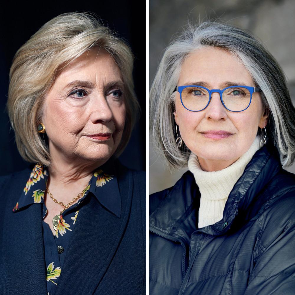 Cựu Ngoại trưởng Mỹ Hillary Clinton và tiểu thuyết gia người Canada Louise Penny