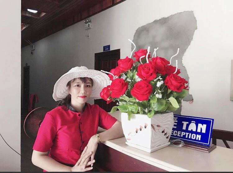 Chị Lê Thị Hồng Tâm nhân viên Công ty TNHH MTV Nhà hàng - Khách sạn Mỹ Khê - ảnh gia đình cung cấp