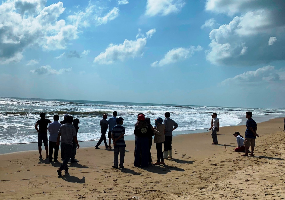 Bãi biển Mỹ Khê (TP.Quảng Ngãi) nơi xảy ra vụ đuối nước thương tâm khiến 2 người mất tich, tử vong