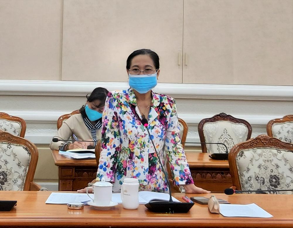 Chủ tịch HĐND TPHCM Nguyễn Thị Lệ yêu cầu công tác tuyên truyền chú ý đến tâm lý người dân trong thời kỳ dịch bệnh.