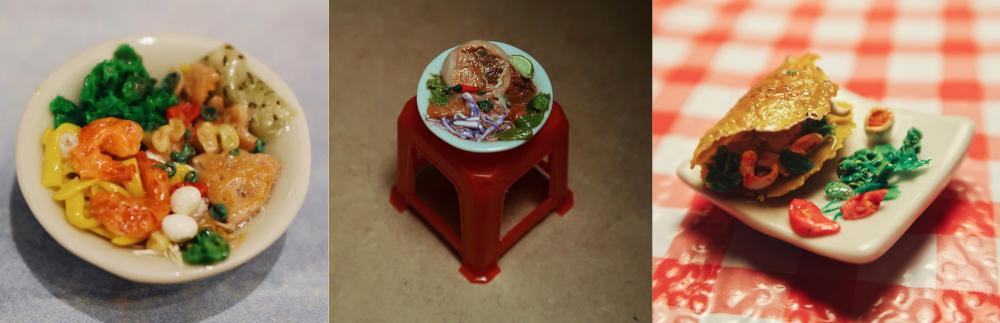 Các món ăn Việt, đặc biệt là món Huế luôn là sự lựa chọn hàng đầu của Ngọc. Trong hình là mì quảng, bún bò và bánh xèo