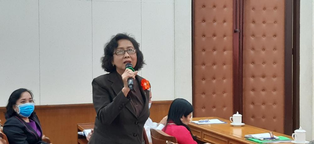 Hội nghị đã lắng nghe 4 tham luận và các ý kiến đóng góp về triển khai chiến lược, chương trình Bình đẳng giới