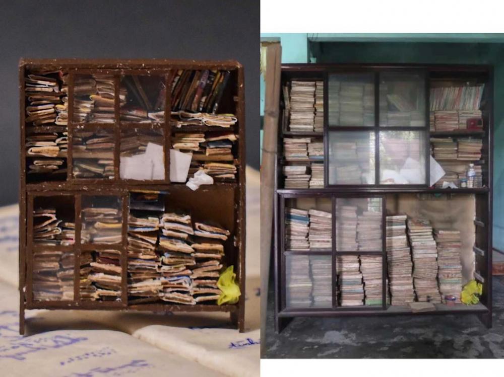 Kệ sách Ngọc tái bản và kệ sách của ba Ngọc