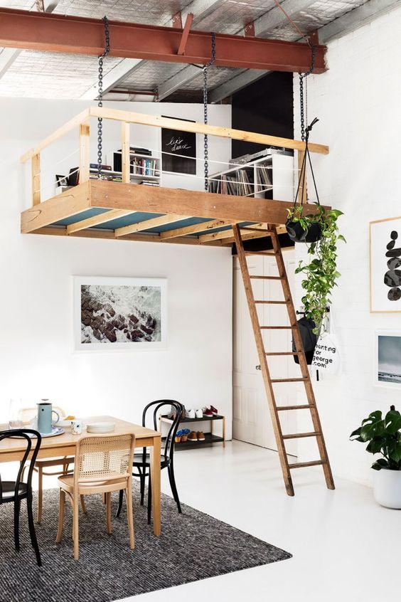 Hình 11.Một căn hộ chiết trung mang phong cách Scandinavia Bắc Âu. Thiết kế này hài hòa giữa cổ điển với hiện đại, giao thoa của sự đơn giản với sang trọng. Đặc biệt có tính hoang dã như vườn treo lơ lửng trên không.