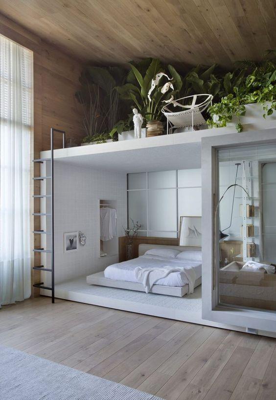Hình 1. Căn phòng gác mái hài hòa thiên nhiên với cảm giác khoan khoái dễ chịu thích hợp để nghỉ ngơi, thư giãn.
