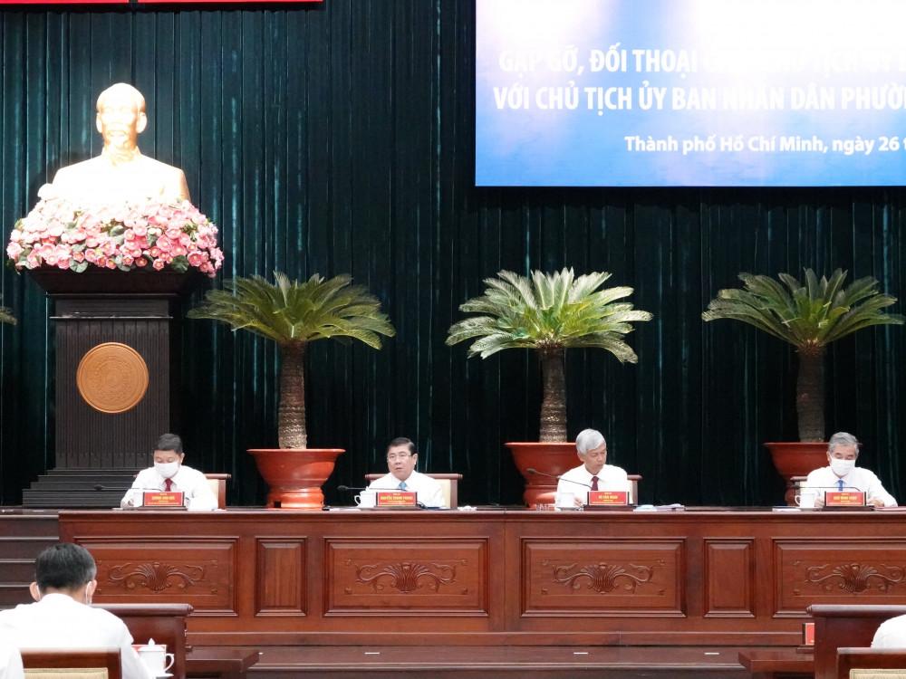 Hội nghị gặp gỡ này được UBND TPHCM tổ chức thường niên, nhằm lắng nghe và tháo gỡ khó khăn cho chủ tịch UBND cấp phường, xã, thị trấn
