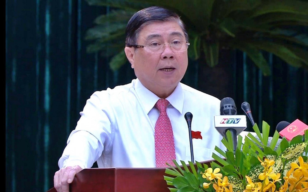 Chủ tịch Nguyễn Thành Phong phát biểu bế mạc hội nghị sáng 26/2
